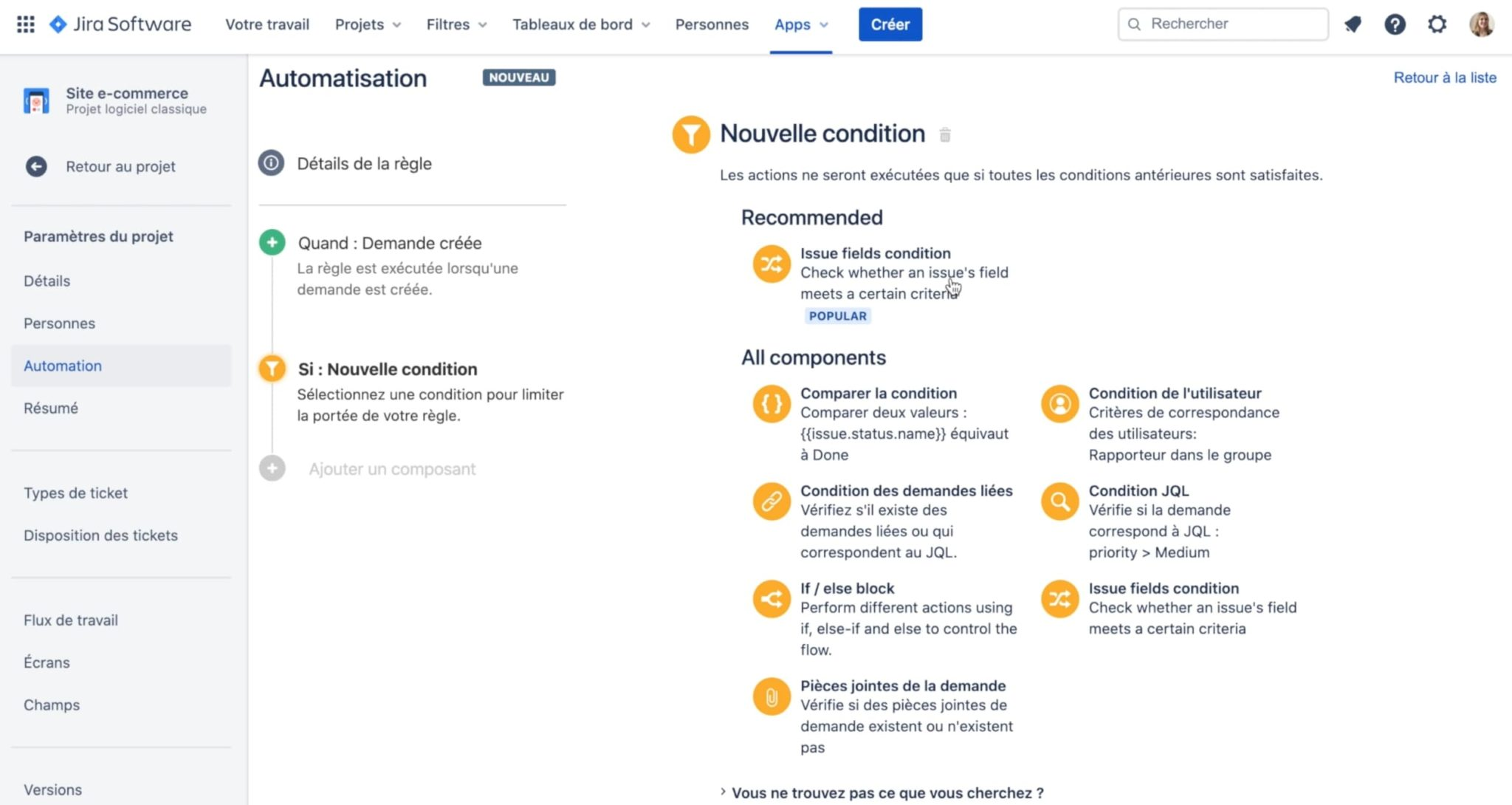 condition automation for jira